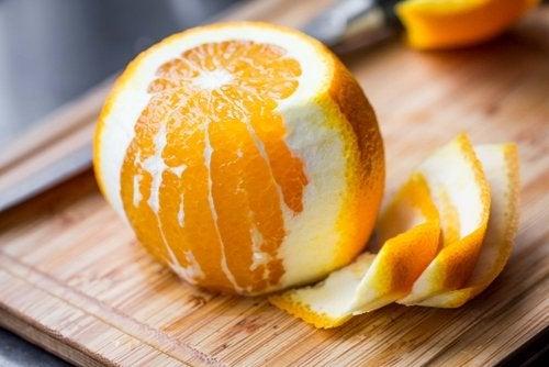 Pulpa de una naranja.
