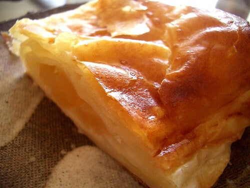 Quiche de pera y queso