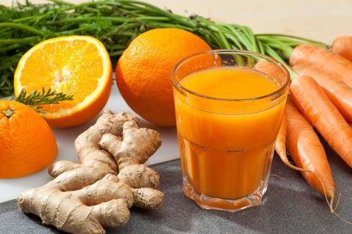 zanahoria y mandarina