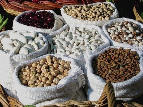 Sacos de legumbres