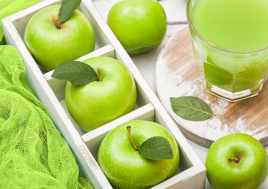 Las manzanas verdes Granny Smith son muy saludables.