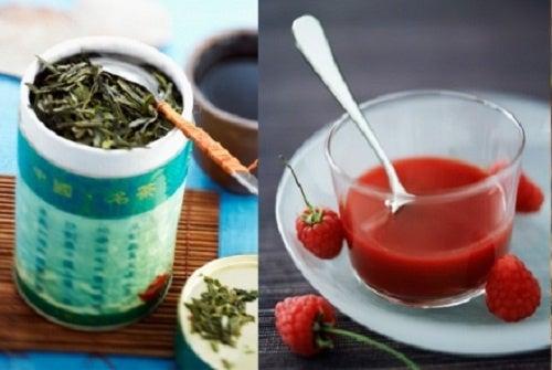 Frambuesas y té verde contra la celulitis