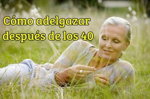 bajar de peso rapido despues de los 40
