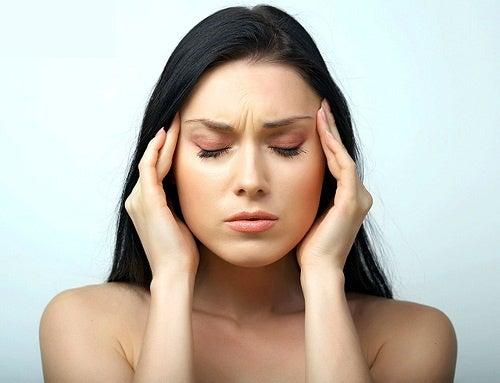 Mujer con estrés agudo