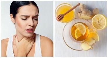 Jarabe de jengibre, limón y miel para la garganta irritada