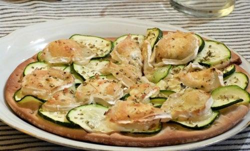 pizza vegetal de calabazin