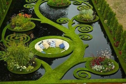Este bello jardín es un lugar bello ideal para meditar.