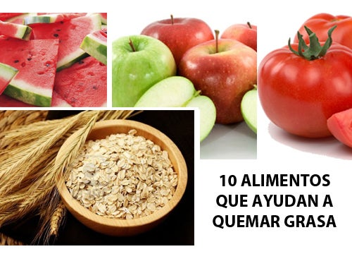 10 Alimentos que ayudan a quemar grasa