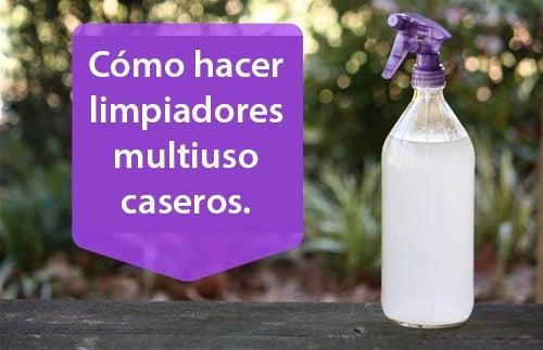 Cómo hacer limpiadores multiusos caseros