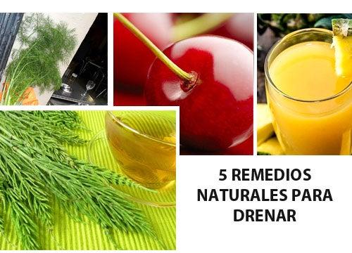 5 remedios naturales para drenar