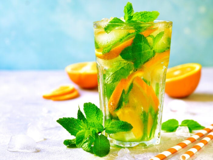 Naranja con menta