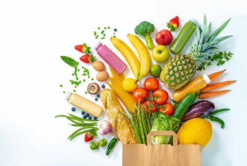 Beneficios de las frutas y vegetales según sus colores