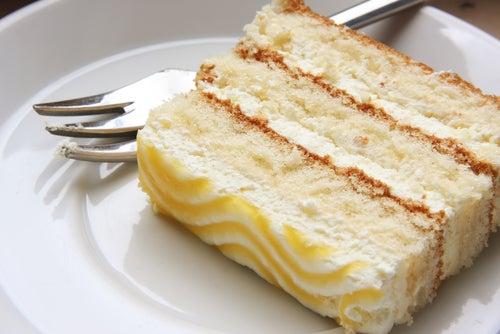 Chiffon de limón con ganache de chocolate blanco