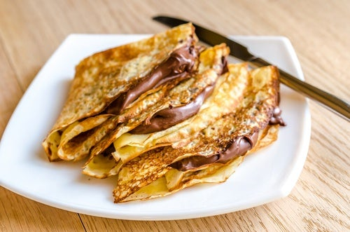 Crepes de Nutella y crema
