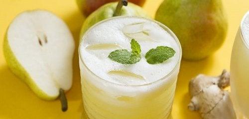 jugo de pera y jengibre