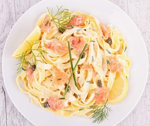 pasta con salmon