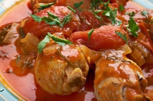 Pollo a la cacciatore (receta italiana)