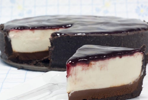Tarta de chocolate y queso para diabéticos