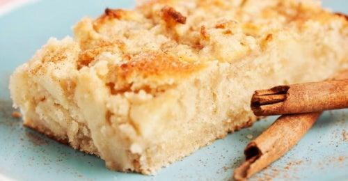 Tarta de manzana y canela apta para diabéticos
