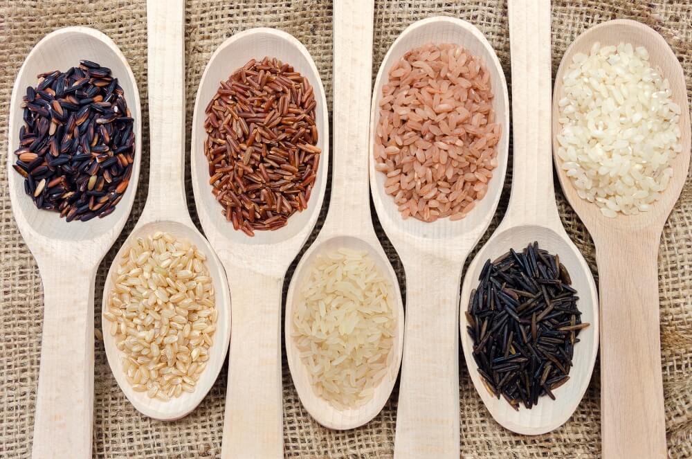 Tipos de arroz.