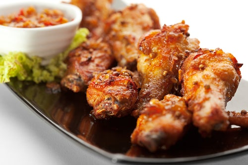 Receta de alitas de pollo crujientes al horno