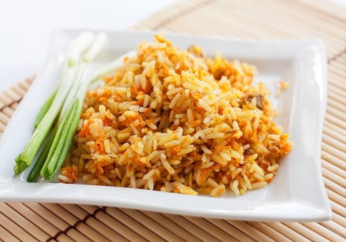 arroz a la naranja