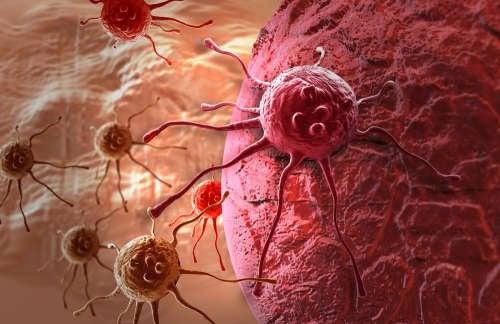 Recreación de célula cancerosa
