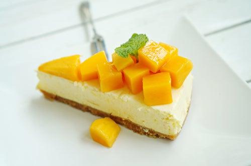 Cheesecake de piña y mango