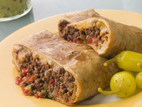 Chimichanga (receta mexicana) dulce y salada
