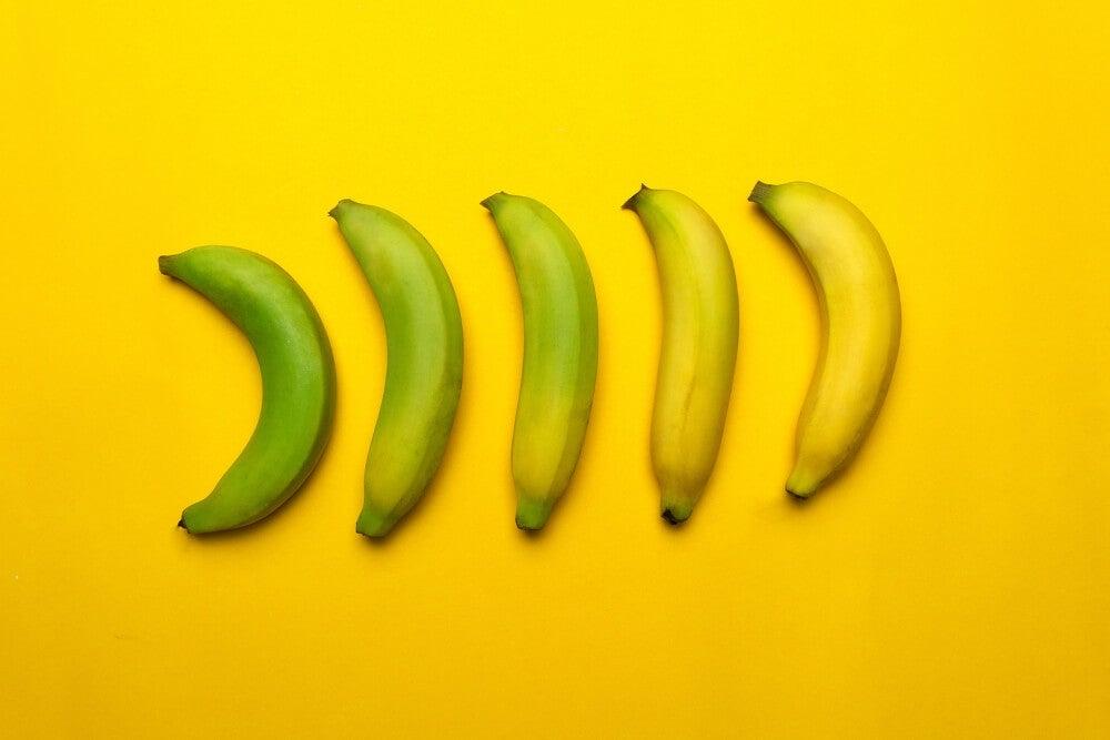 Comer plátano, ¿maduro o verde?