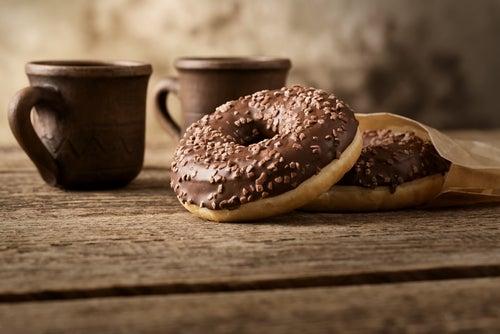 Donuts de calabaza con glaseado de café