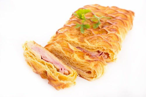 empanada o pastel de jamón y queso