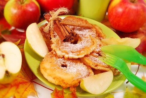 Fritura de manzana