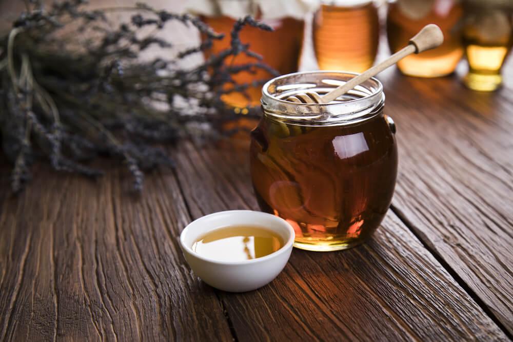 Tarro con miel.