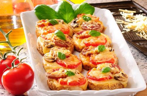 Mini pizzas de patata