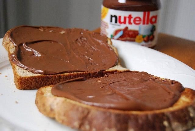 Hojaldre estrellado con Nutella