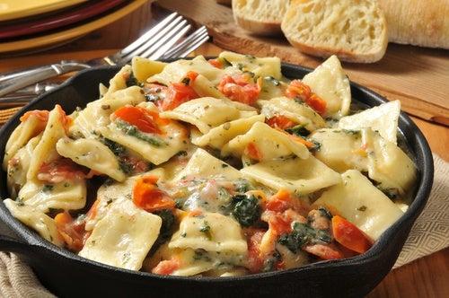 Recetas de raviolis de carne y espinacas