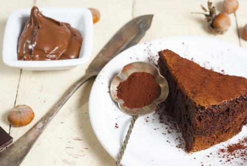 Torta mágica de chocolate