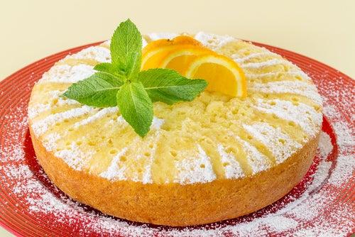 Torta húmeda de mandarina