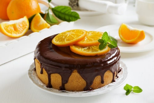 Torta de naranja entera