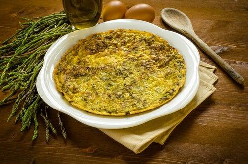 tortilla esparragos