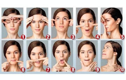 Gimnasia facial para verse más joven