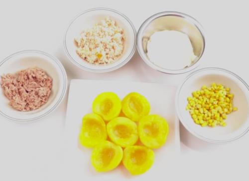 Ingredientes-melocotones-rellenos