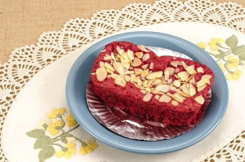 Brownie cheesecake de terciopelo rojo