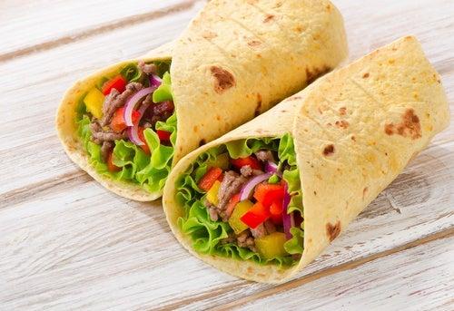 burrito quesadillas mexicanas