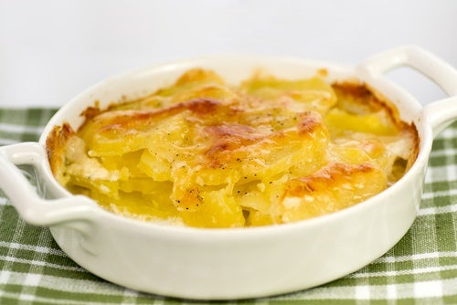 Cacerola de patatas y queso