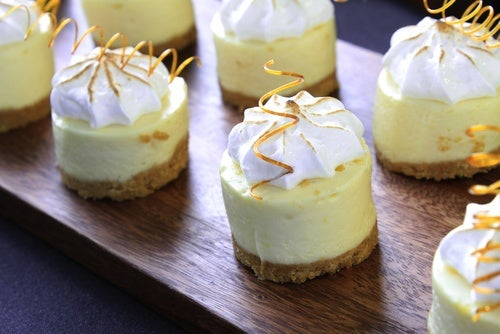 Cheesecake de limón con merengue
