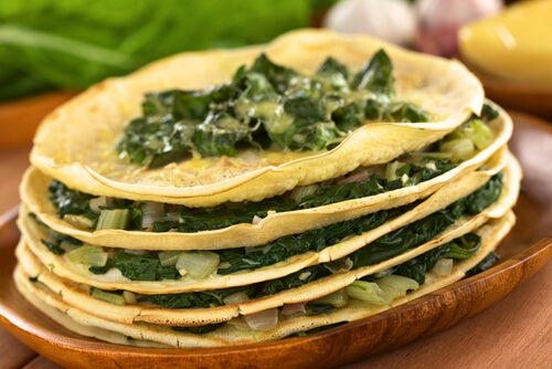 crepes acelgas queso