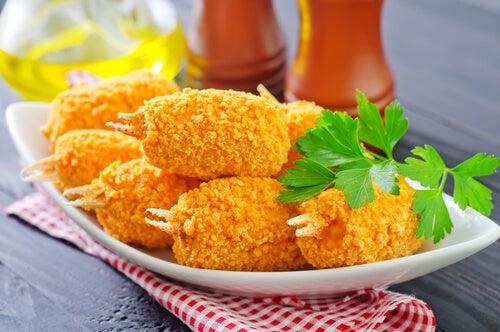 Croquetas de cangrejo