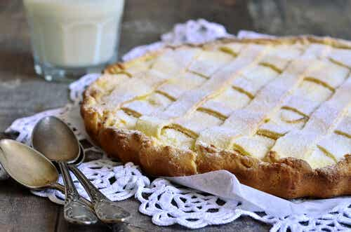 Crostata de crema de limón